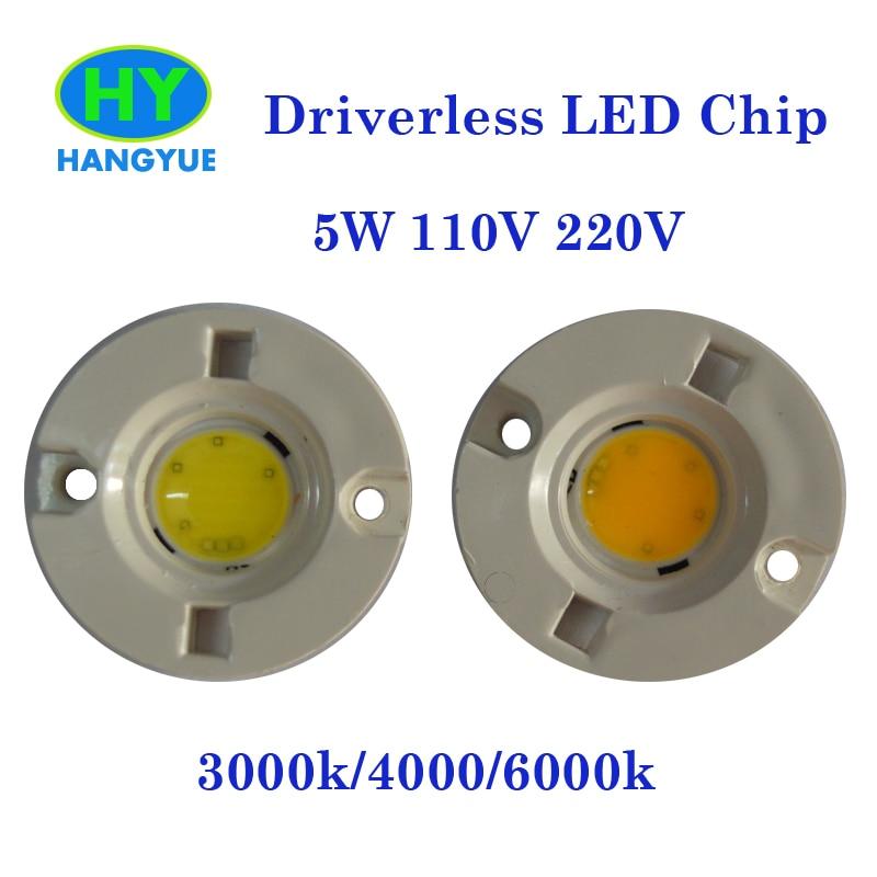 Visoka svetlost brez voznikov PCB 3W / 5W okrogla COB LED žarnica - Pribor za razsvetljavo - Fotografija 2