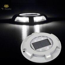 T-SUNRISE 6000k наземный светильник на солнечной энергии светодиодный подземный светильник водонепроницаемый IP65 Открытый Путь садовый настил погребенный светильник