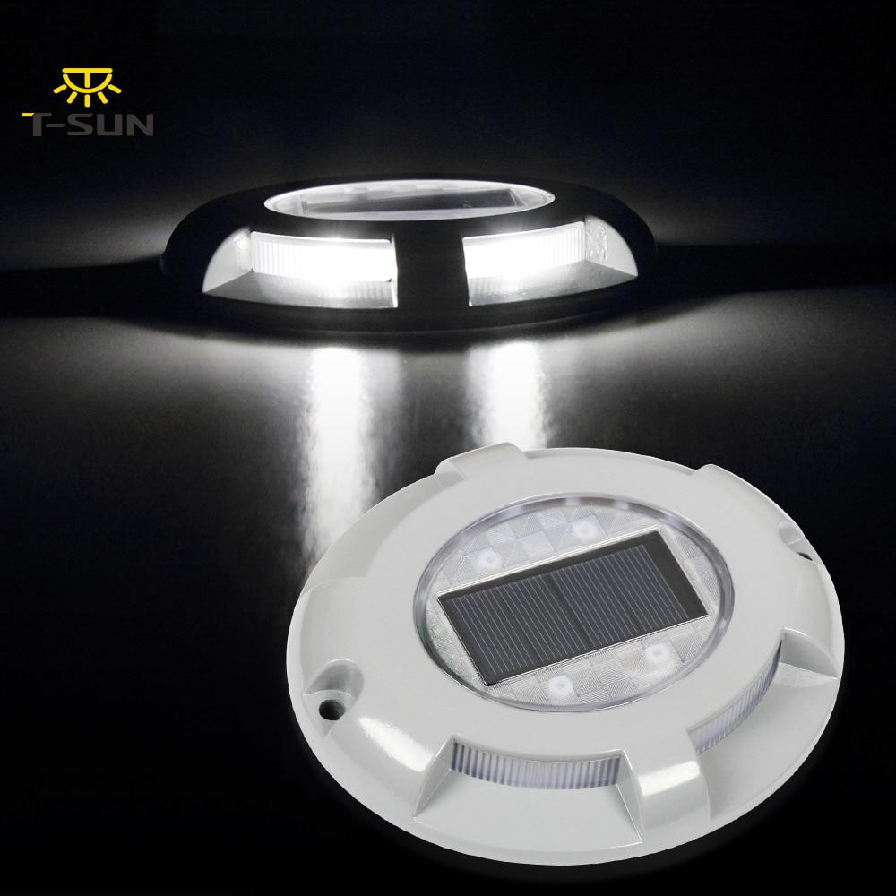 T-SUNRISE 6000k Ground Lamp Solar Power LED Underground Light Waterproof IP65 Outdoor Path Way Garden Decking Buried Light