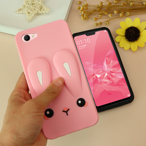 Image 1 - Shockproof silicone Phone case for oppoA3 phone cover for A7X A7 A83 F7 fashion plain phone housing Dirt resistant Anti knock
