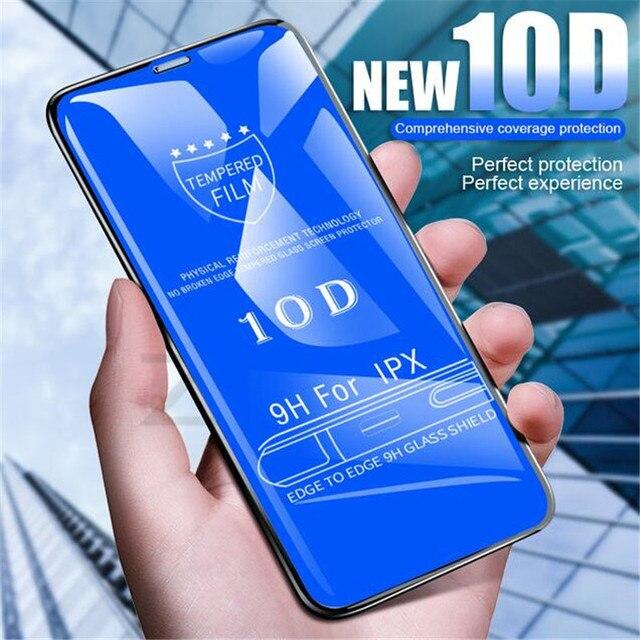 10D Curvo BORDA de Vidro Temperado No Para O iphone 6 6s 7 8 PLus Protetor de Tela Cheia Para O iphone 7 8 6 6 s além de Película Protetora