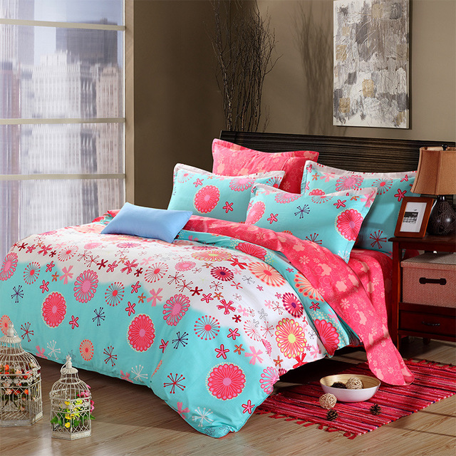 Four Sets Of 100% Cotton Manufacturers Selling Products Wedding Bedsheets  Home Textile Queen Bed Sheet