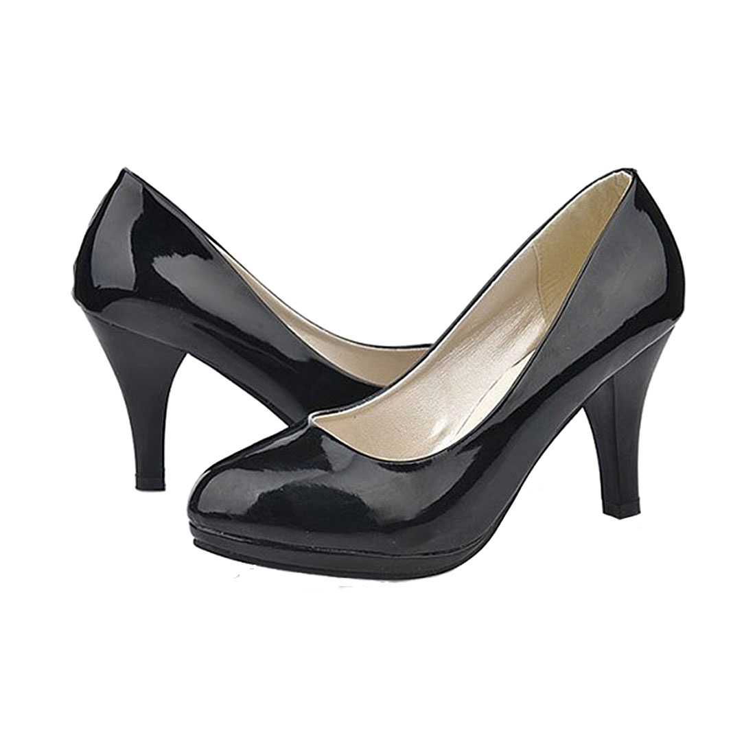 VSEN Hot Classic Sexy office lady round Toe platform low Heels Women wedding Pumps Shoes Black US3.5 2017 hot sale fashion style classic women pumps leisure round toe slip on med heels mature office lady easy walking hot shoes