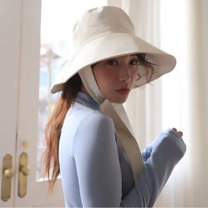 Image 4 - [EAM] 2020 New Spring Summer Round Dome Bandage Bow Big Foldable Temperament Fishermen Hat Women Fashion Tide All match JS719