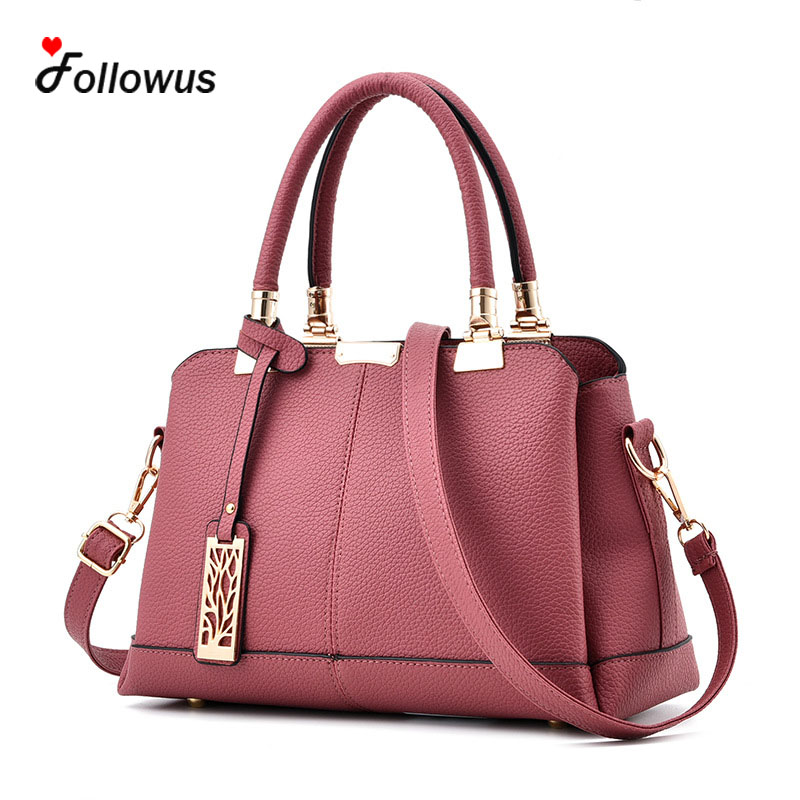 Women New Fashion Tote Handbags 6 Colors High Capacity OL Style Female Casual Zipper Messenger Bags PU Leather Shoulder Bags dimplex truscott