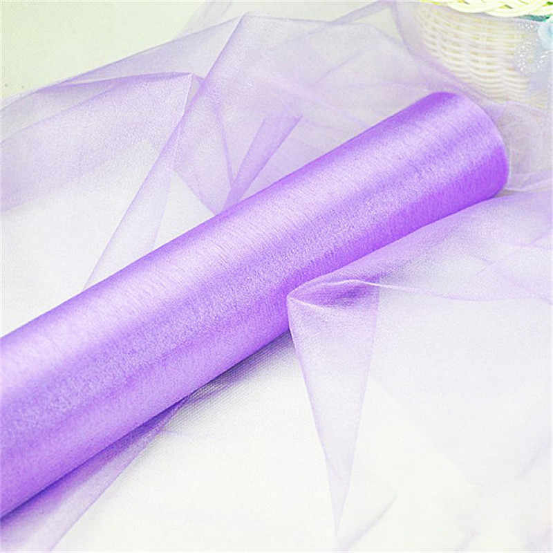 5M *48CM Hot Fashion Snow Yarn Wedding Arches Sheer Crystal Organza Tulle Fabric For Wedding Party Decorat New Year Romantic 6Z