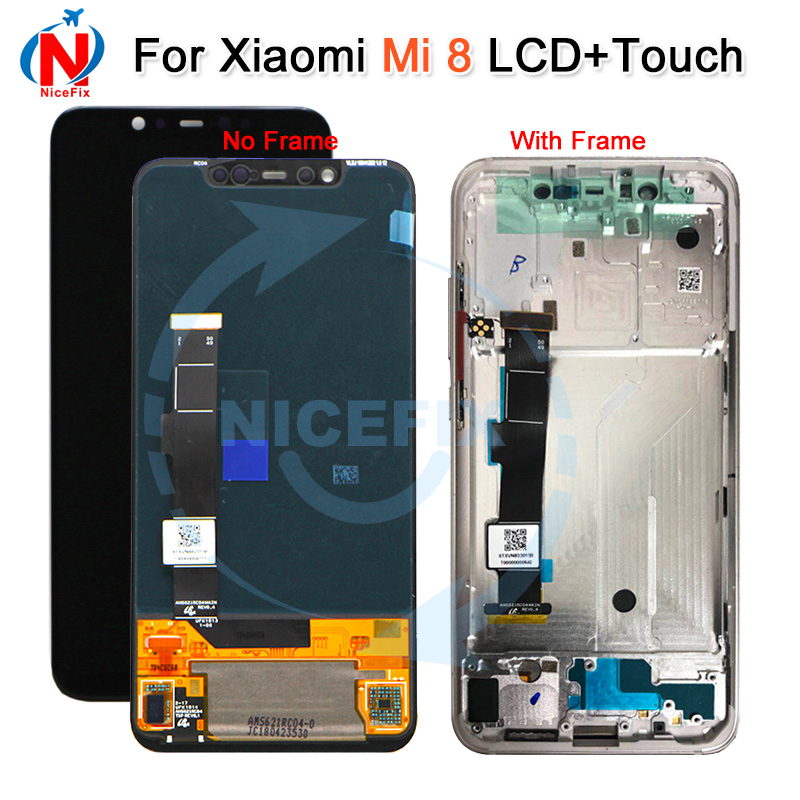 Super Amoled For Xiaomi Mi8 pro LCD Display Digitizer Touch Screen with frame Xiaomi 8 LCD