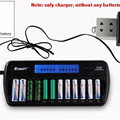 Super 12 Bay Smart LCD Display RYDBATT 12 Slots Battery Charger for Ni-MH NiCd AA AAA Rechargeable Batteries with Advanced MCU