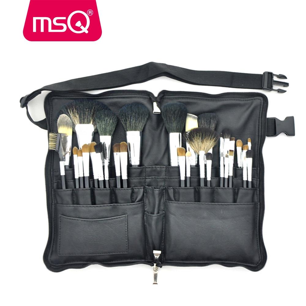 MSQ smink ecset készlet Pro 32db kiváló minőségű puha természetes haj alapítvány szemhéjfesték smink ecset készlet PU bőr öv tok