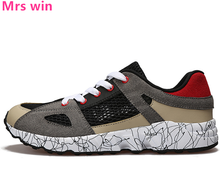 New Summer Style Men Running Shoes Hollow Air Mesh Shoes Men Sneakers Outdoor Camping Non-slip Lightweight Walking Shoes zapatos