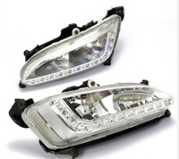 Fast shipping New arrival for Hyundai IX45 New Santa Fe 2013 led drl daytime running light with fog light cup exact replacement