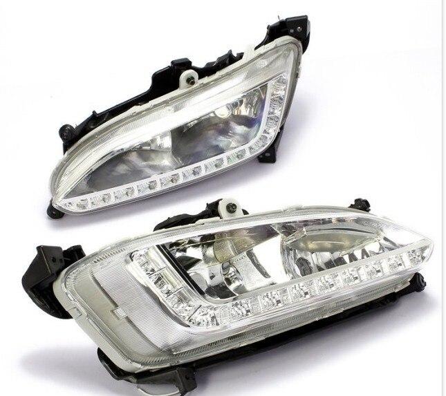 Быстрая доставка новое прибытие для IX45 Hyundai Новый Санта Фе 2013 Сид DRL дневного света с противотуманной фарой Кубка точная замена