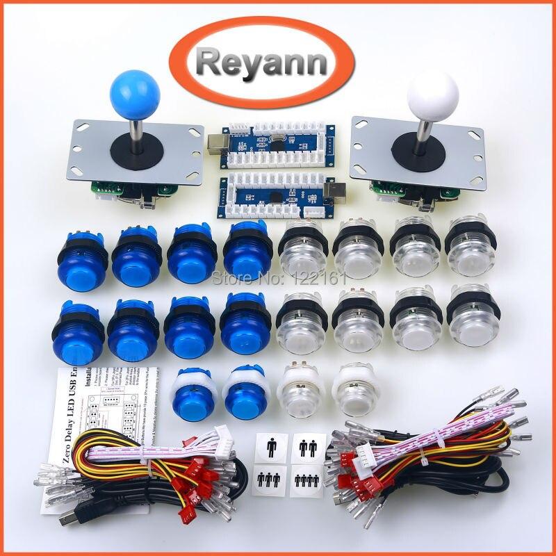 Arcade DIY Kit de LED LED Encoder USB Joystick Arcade Game piezas para USB Controladores MAME y Frambuesa Pi Arcade Consola de Juegos DIY