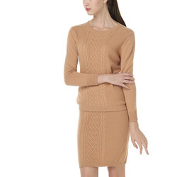 100% ziege kaschmir dicken stricken frauen mode pullover anzüge voller hülse pullover half-length rock 2 teile/satz S-XL EUR größe