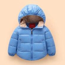 Дети зимой теплое пальто для детей мода утка вниз пальто мальчики девочки снег износ