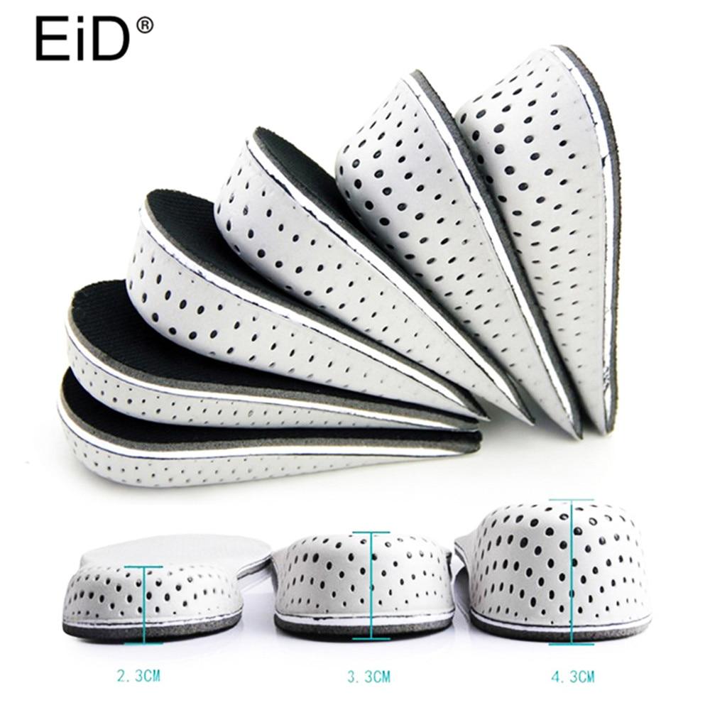 EID Height Increasing Insoles Men Women EVA Breathable Comfortable Insoles Shoe Accessories Black Color Half Insoles