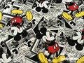 50*160 см Мультфильм прекрасный Микки Маус мягкая Вязание Хлопок Ткань Для Шитья diy Лоскутное Родитель-ребенок Одежда, ДЕТСКАЯ одежда