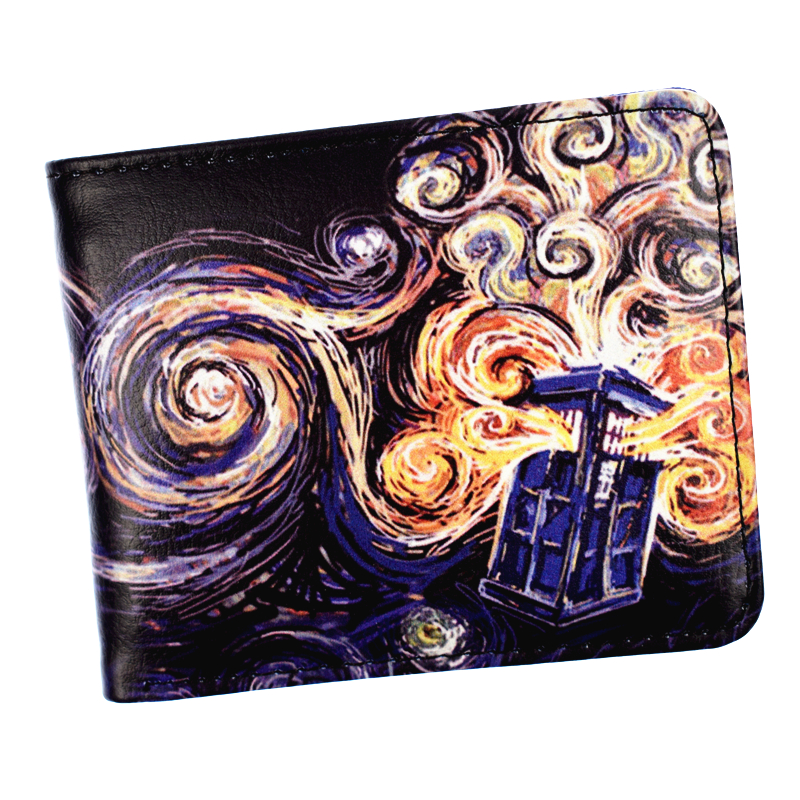 FVIP Doctor Who Wallet Men's Short Purse High Quality PU Leather Wallets