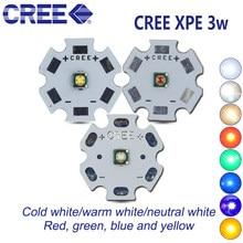 Pcs Cree XPE 10 XP-E R3 1-3 w Neutro LEVOU Diodo Emissor de luz Branca quente branco vermelho verde azul com amarelo 20/16/14/12/10/8mm