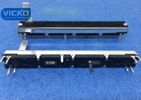 VK Straight Slide pusher Double Fader for Soundcraft EFX8 75mm A10K A10Kx2 potentiometer 7 5cm