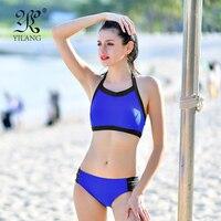 Sexy Cut Out Bikini Bathing Suit High Waist 2018 Women High Neck Swimwear Ladies Halter String Bikini Padded Beach Wear Plus XL