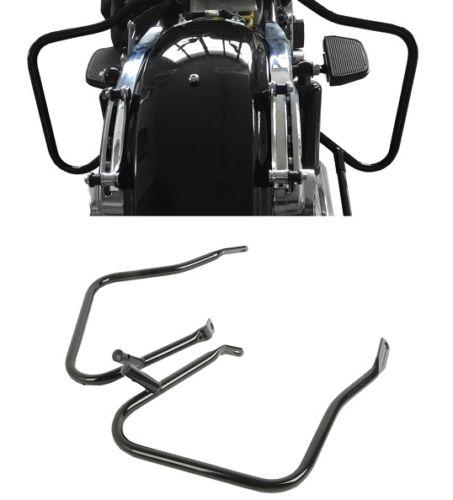 цена на Black Saddlebag Bracket Guard Bar For Harley Street Road Glide FLHX FLTR 2014+ Motorcycle