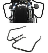 Motorcycle Saddlebag Bracket Guard Bar For Harley Street Road Glide FLHX FLTR 2014+