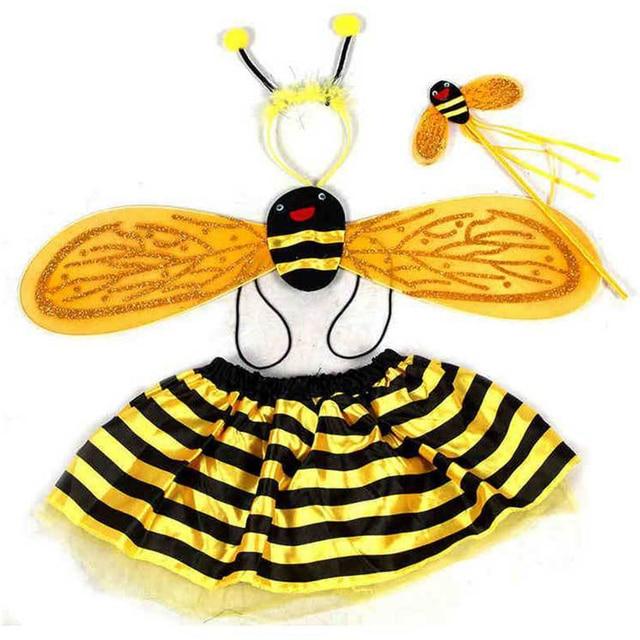 Christmas Halloween Cute Girls Cosplay Bee Costumes dress Bee Wings+Tutu Skirts 4 Piece Sets  sc 1 st  AliExpress.com & Christmas Halloween Cute Girls Cosplay Bee Costumes dress Bee Wings+ ...