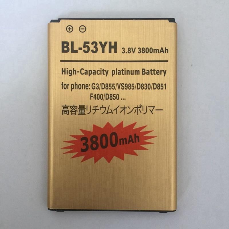 Per LG G3 batteria Batterie Bateria BL-53YH Interna di Ricambio Per LG D858 D857 D855 D850 D859 F400 F460 F470 F400L