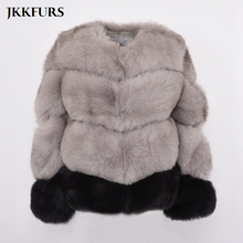 2019 New Womens Genuine Fox Fur Coat Multiple Color Customized Mixed Real Natural Winter Thick Warm High Quality S7372