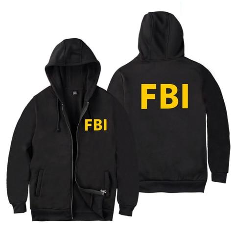 fashion Zipper Men women Hoodies Sweatshirts FBI Print sport hip hop Casual Zip Up Unisex Long Sleeve hoodie jacket coat top 4XL Karachi