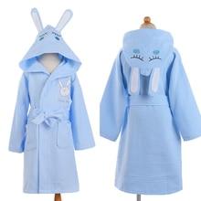 Children Hooded Bathrobe Kids Boys Girls Cotton Lovely Bath Robes Dressing Gown Kids Homewear Sleepwear with Belts summer