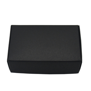 Image 2 - 9.4x6.2x3cm Black Cardboard Paper Boxes for Wedding Gift Card Package Kraft Paper Box Birthday Candy Crafts Wrapping Box 50PCS