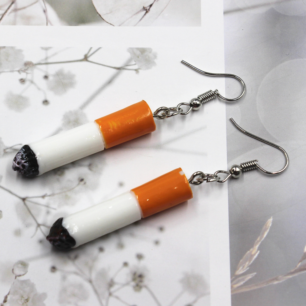 New Cigarette  Earrings  Fashion  Creative Earring For Women Gift Earrings Jewelry Wholesale