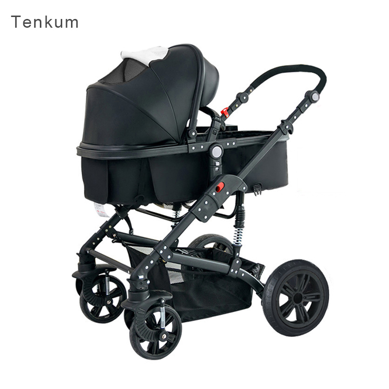 HK free! Teknum 2018 Real Time-limited Brand Stroller Poussette Baby Teknum Baby Stroller Big 2 In 1 Sleeping Carriage