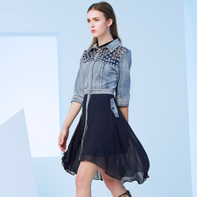 2017 spring/summer new jeans European dress, 8574