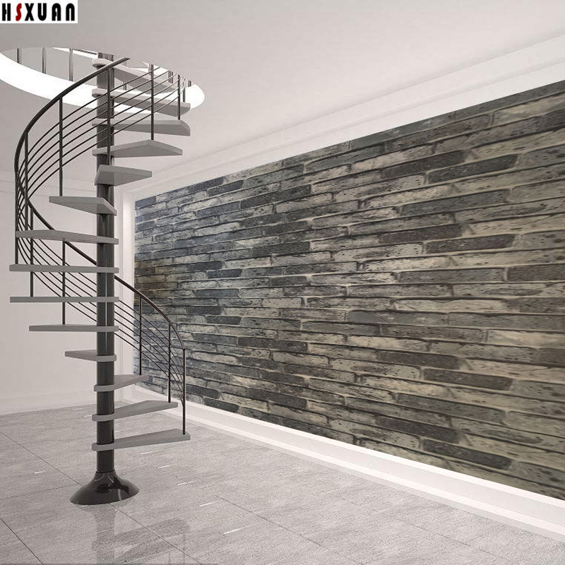 light <font><b>gray</b></font> Stone grain paper decal self adhesive Removable Kitchen Waterproof Sticker Home Decor Kitchen Tile Wall Sticker 2634