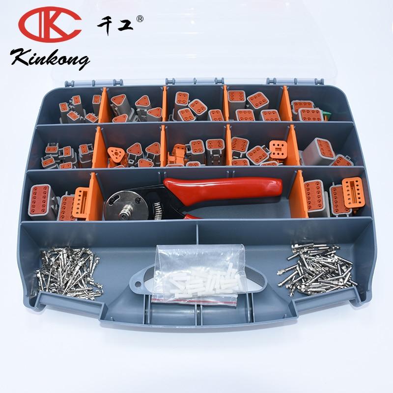 303pcs Grey Deustch DT automotive connectors Kit 16 18AWG Stamp Contacts Pins crimper ACX2941