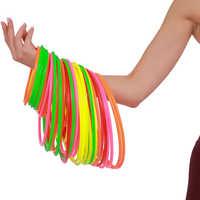24 pièces en plastique coloré Hoopla anneau lancer moulé en plein air Sport cercle ensembles jouet éducatif mode Parent-enfant jeu interactif jouet