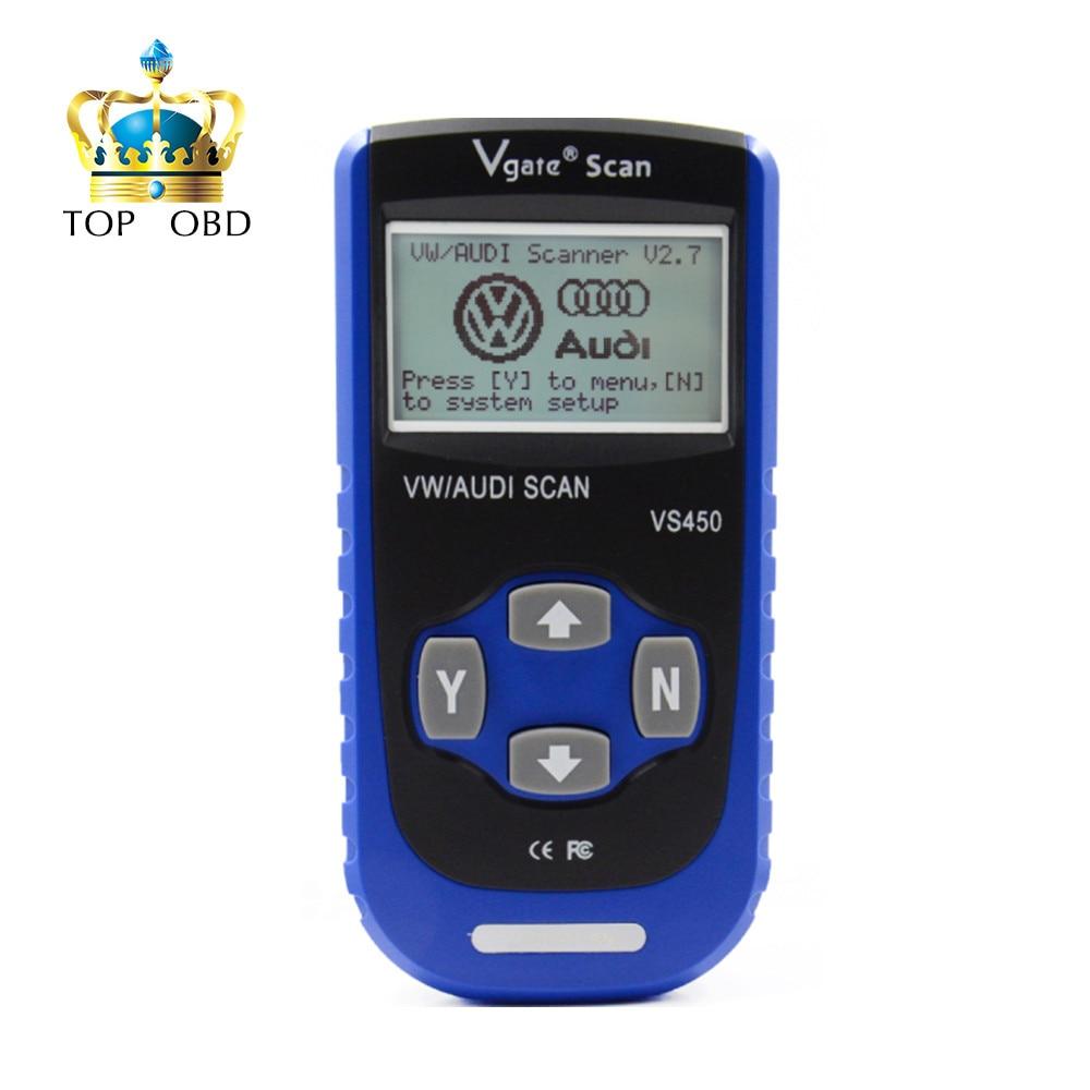 Prix pour Nouveau Vgate Numérisation VS450 VW VAG Scanner OBD2 Outil De Diagnostic Scanner Pour Voiture Scanners Automobile Diagnostic