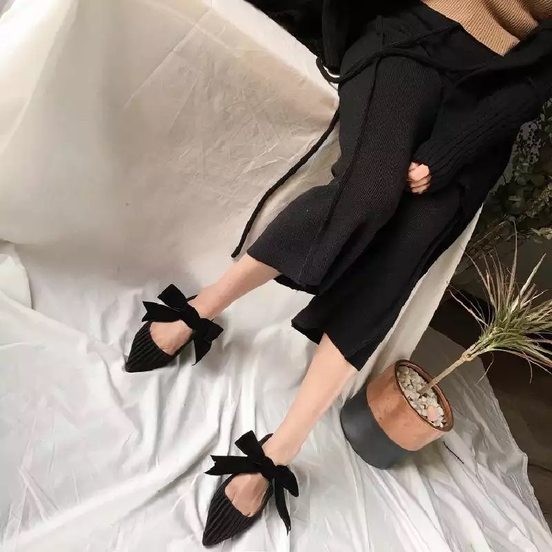 Papillon Pour Chaussures vert Kelly Femme Femelle 2019 Noir kot Appartements Sac Plates Femmes 0kXZPnN8wO