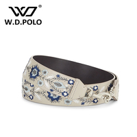WDPOLO New Embroidery Strap For The Bags Cool Rivet Handbags Strap Fashionable Flower Bags Accessories Easy