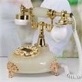 Мода старинные стационарный телефон главная мода Искусственный нефрита Ремесла телефон