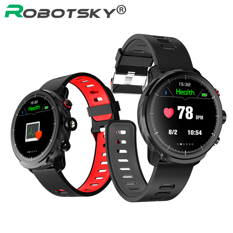 <font><b>L5</b></font> <font><b>Smart</b></font> <font><b>Watch</b></font> <font><b>Men</b></font> <font><b>IP68</b></font> Waterproof Multiple Sports Mode Heart Rate Weather Forecast Bluetooth Smartwatch Standby 100 Days image