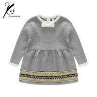 Bé sơ sinh Gái Áo Len Công Chúa Váy Cho Trẻ Sơ Sinh Đan Dress Little Girl Mùa Xuân Mùa Thu Đông Jersey Dress