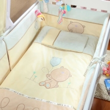 Promotion! Velvet Cute Baby Cot Set 100% Cotton Crib Set For Kids,Baby Bedding Set Unpick,,(bumper+sheet+pillow+duvet)