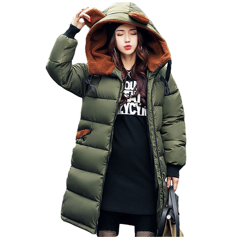 Women's Winter Jacket 2017 New Medium-long Down Cotton Female Parkas Plus Size Winter Coat Women Slim Ladies Jackets And Coats winter jackets coats new down cotton jacket women parkas thicken hooded outerwear slim large size medium long female coat k616