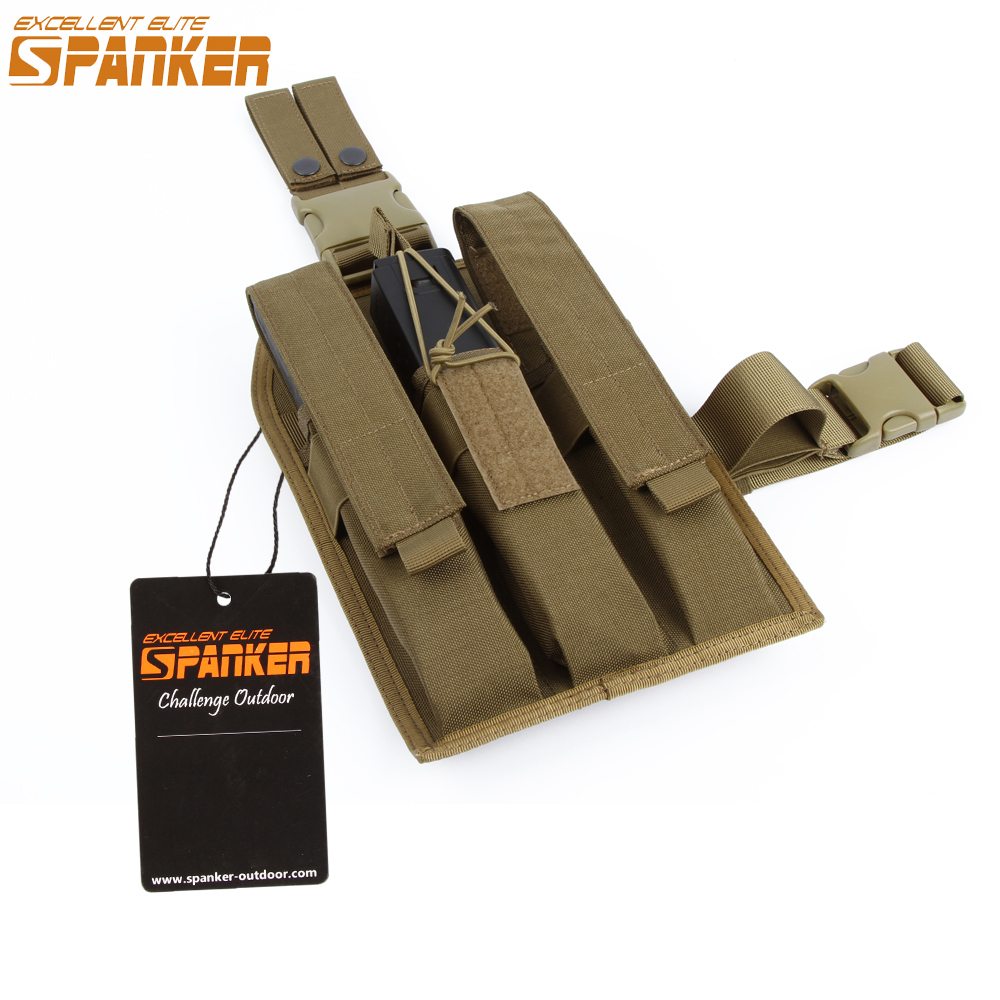 EXCELLENT ELITE SPANKER Outdoor Hunting Magazine Pouch Tactical KRISS Clip Hanging Bag Molle Legs Hanging Tools excellent elite spanker waterproof military tactical backpack hunting accessories sport bag molle tactical pouch hunting bag