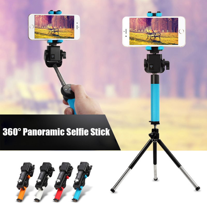 Fansaco Bluetooth Selfie Stick Tripod Wireless 360 Degree Panorama Rotation Selfie Stick ...