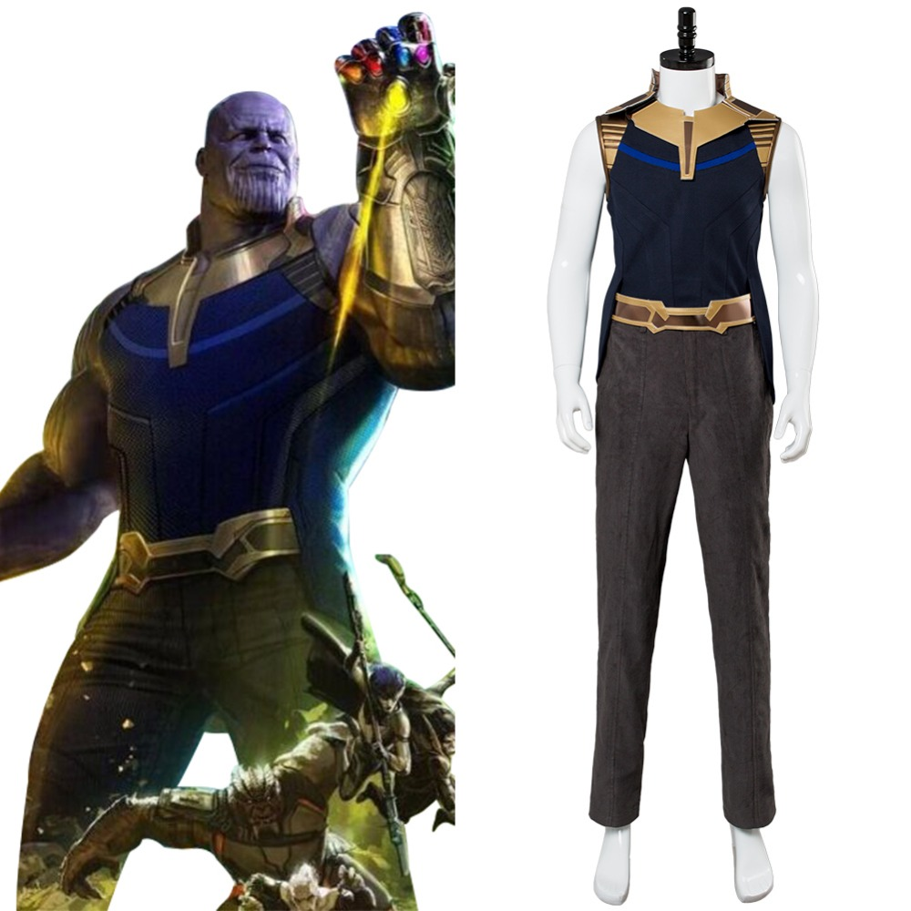 Avengers Infinity War Cosplay Costume Thanos Cosplay Full Sets Outfit Costume For Adult Halloween Costumes